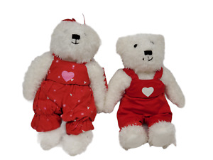 WORKING Hallmark Blushing Bears Kissing Plush Magnetic Valentines Day From 2004