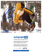 Louie Vito X-Games Gold Olympic Snowboarding Superpipe Signed 8x10 Photo ACOA D