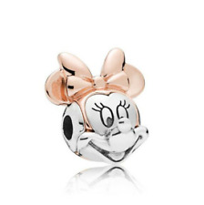 NEW Silver Rose Gold Minnie European Charm Pendant Beads Fit Necklace Bracelet !