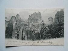 Postkarte Lithographie Ansichtskarte Sachsen.Sächs.Sweiz. Bastei-Brücke.