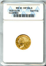1929 $2.5 Indian Head Quarter Eagle MS 60 Details ANACS # 1507718 + Bonus