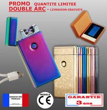 Briquet DOUBLE arc électrique USB tempête plasma pulse 10 modèles LUXE Inferno -
