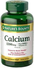Nature Bounty Calcium plus vitamin d 1200 mg Softgel 120 ct