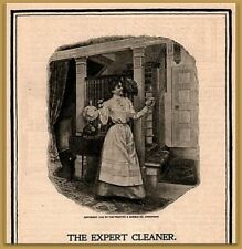 """30% OFF 3 SALE ! 1900 Ivory Soap Edwardian Decor """"the expert"""" Woman Cleaning  Ad"""