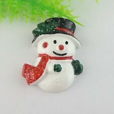 14pcs Resin Christmas Snowman Decoration flatback Appliques Jewelry 38994