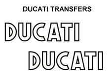Ducati Classic Tank Transfers Decals Sold as a Pair Outline in Black Motorcycle