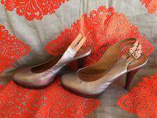John Lewis Size 6 Silver Heels SlingBack Leather
