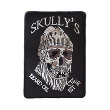 Skully's Logo Embroidered Sew-On Patch, skull patch, patches, skull patches