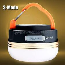 USB Rechargeable LED Outdoor Camping Lantern Emergency Light Tent Lamp Mini 1pc