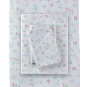 Rachel Ashwell Simply Shabby Chic Queen Candy Floral Sheet Set Polyester Pink