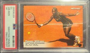 2003 Netpro Tennis #1 RC Serena Williams Rookie Card PSA 10 Gem Mint