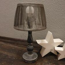 Nachttischlampe Tischlampe Bart Kinderlampe mit Keramik E14 Silber//Anthrazit