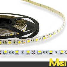 B016 STRISCIA LED 300 SMD 5050 5MT STRIP IP20 SENZA SILICONE 12V LUCE FREDDA
