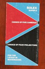 BOLEX CHOICE OF 5 SUPER 8 CAMERAS BROCHURE/133015