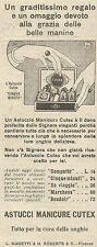 W6679 Astucci Manicure CUTEX - Pubblicità 1929 - Advertising