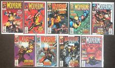 Wolverine #121,122,123,125,126,127,128,129,130 1998 Marvel Series 1 X-Men Nm