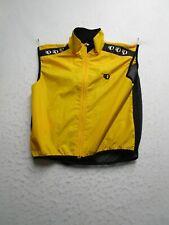 Pearl Izumi IQ Mens XL Yellow Full Zip Vest High Neck Mesh Back Vented Light