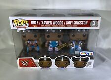 "Funko POP! Big E Xavier Woods Kofi Kingston WWE Exclusive 3-Pack Figures ""NEW"""