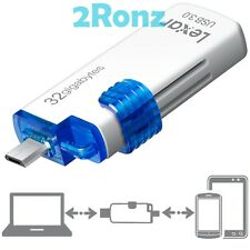 Lexar M20 OTG 32GB 32G USB 3.0 Flash Drive Micro-USB JumpDrive Mobile Android