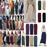Women Stretch High Waist Bodycon Pencil Long Maxi Skirt Muslim Slim Skirts Dress