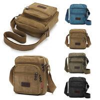 Men's Canvas Military Satchel Shoulder Bag Messenger Hiking Travel Backpack Bags