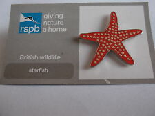 Starfish For R.S.P.B. Give Nature A Home Pin Badge BNOC