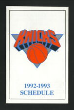 New York Knicks--1992-93 Pocket Schedule
