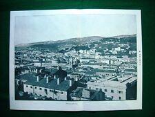 WW1 Guerra Mondiale 1918 Panorama di Trieste + Torre del Comune, San Giusto
