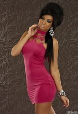 Polyester Halter Neck Party Mini Dresses for Women