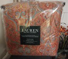 New $385 Ralph Lauren Carot Paisley Red Turquoise Queen 3-Piece Comforter Set