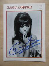Claudia Cardinale Autogramm signed 13x18 cm Karte