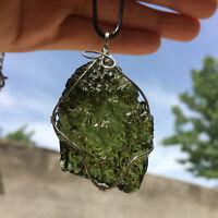 Green Moldavite quartz pendant crystal gemstone specimen healing 1pc 20g