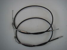 "Extended Black Throttle cables 42"" Long Harley-Davidson 1981 to 1989 114655 657"