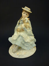 Coalport China Figurine: Best Friends: Girl & Dog: 150th Anniversary RSPCA