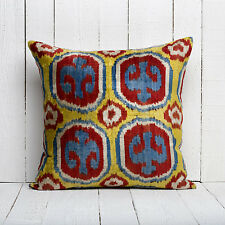 "20"" x 20"" Pillow Cover Velvet Ikat Pillow Cover Fast Shipment With UPS 05584"