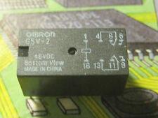 OMRON G5V-2 48VDC 2A  DPDT Power Relay   1pcs