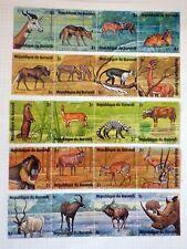 Lot Timbres Stamps BURUNDI Obliterés Used MH* dont animaux Papillons etc...