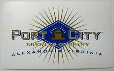 PORT CITY BREWING COMPANY 3X5 inch Beer STICKER Alexandria, VIRGINIA