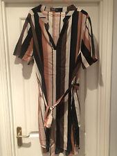 Striped Tunic Dress - 3XL - Pastel Colours
