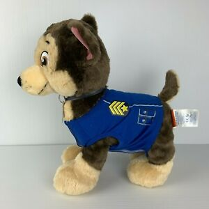 Build a Bear Paw Patrol Chase the Dog Plush w/ Outfit + Collar Stuffed Soft Toy