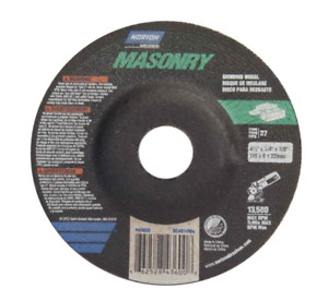 "NORTON MASONRY GRINDING WHEEL DISC 4-/12"" X 1/4"" X 7/8"" 43600 (LOT OF 14)"