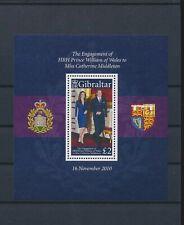 LM40532 Gibraltar Kate & William wedding royalty good sheet MNH