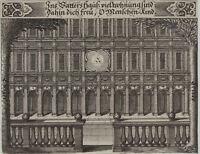 Gottes HAUS  wertvoller Original Barock Ornament Kupferstich um 1660 Wohnungen