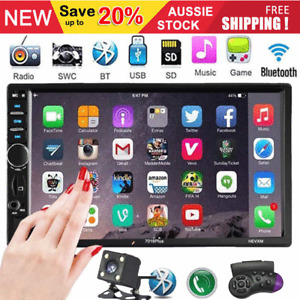 """7"""" Double 2 DIN Head Unit Car Stereo MP5 Player Touch Screen BT Radio GPS MAP"""