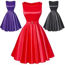 Sexy red mini short dress pin up fetish high heelsXL 42 retro vintage
