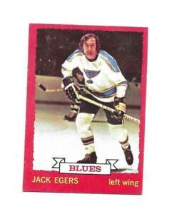 1973-74 OPC:#79 Jack Egers,Blues