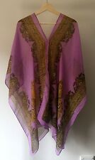 NEW Women's Ladies Chiffon PURPLE Kaftan Caftan Top BOHO Loose Batwing  One Size