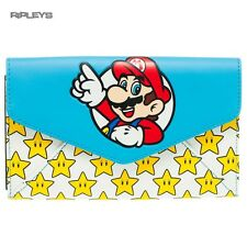 Official MARIO 64 Nintendo Game Large Purse Wallet Gold Stars Gift