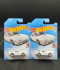 2021 Hot Wheels '89 Mazda Savanna RX-7 FC35 #176 White - Set of 2