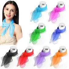 WOMEN Super Light Chiffon Neck Scarf  Vintage 50s Fancy Wrap Hair Head Neck Tie